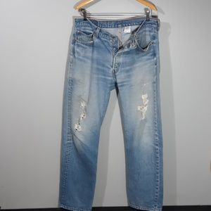 Levi's   501xx Distressed and Destroyed
